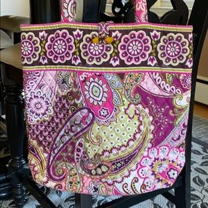 Paisley Vera quilted tote bag